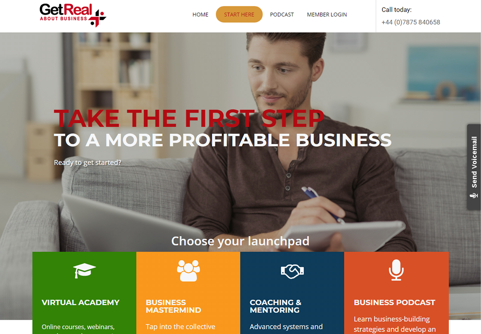 Get Real About Business Website